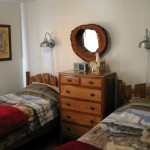 Montana Hunting Lodge Bedroom With Two Twin Beds